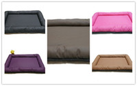beds leather - High quality PU leather waterproof dog cat pet cushion mat bed cm thickness of sponge five colors