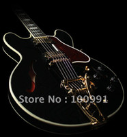 other bigsby - Musical Instruments hollow body Black jazz Electric Guitar with Bigsby Fashion Guitar best guitar