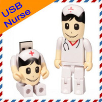 4GB 8GB 16GB Real Capacity USB Drive in White Nurse Design +...