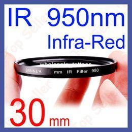 Wholesale 30mm IR nm Lens Filter Infrared Infra Red For DSLR SLR Camera Optical Glass