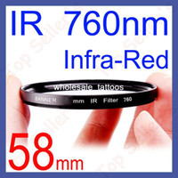Wholesale 58mm IR nm Infrared Infra Red Filter For Nikon Canon Sigma Pentax Camera Lens