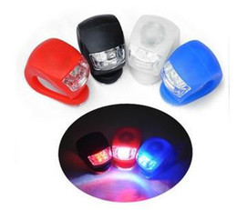 150pcs lot RA FedEx Free Ship 2 LED Light Bicycle Lamp Silicone Waterproof Safety Rear light Bike