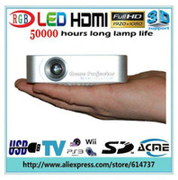 Wholesale Hot selling mini LED Projector with HDMI USB TV SD Support D Movie best video game projector