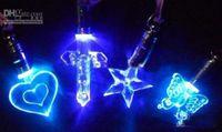 Wholesale Luminous necklace colorful LED Flash Necklace Pendant Fashion Necklace Pendant Light a magnetic toy