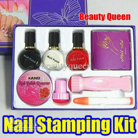 Diy nail art stamp stamping kit set stencil image plate metal diy nail art stamp stamping kit set stencil image plate metal special polish printer nail stamping kit nail stamp kit nail stamp plate online with prinsesfo Images