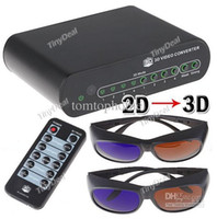 Wholesale 2D to D Converter Box D Conversion Signal Video Converter TV Movie Blue Ray Xbox DVD PS3