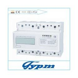 Wholesale Freeshipping Three phase four wire din rail kwh meter module register display V V