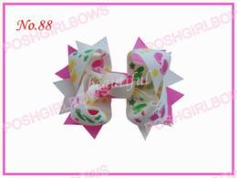 free shipping 45ps Girl Boutique 2 tone 3.5 Windmill Hair Bow Clip baby hair bows hair accessories