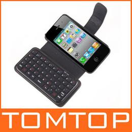 Mini teclado inalámbrico Bluetooth + caja de cuero para el iPhone 4, envío libre desde caso de cuero del teclado del iphone fabricantes