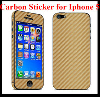 Wholesale Carbon Fiber Vinyl Full Body Sticker Stickers Skin Film Guard Protector for iphone G Low Price