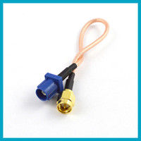 Wholesale GPS antenna Extension cable Fakra C plug to SMA male plug pigtail cable RG