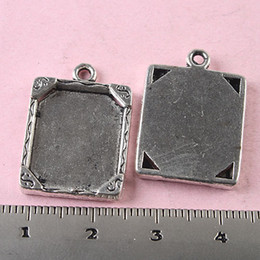 16pcs Tibetan silver rim picture frame SETTINGS Material:Zinc Alloy Metal(lead free) SIZE(Approx): 23x16.8mm charms H0347