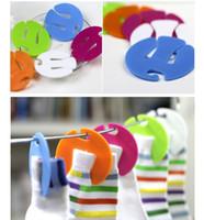 Wholesale Convenient Plastic Clip Drying Socks Folder Hanger Racks