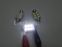 Wholesale 10pcs white Canbus V mm mm SMD LED Car Auto Light Bulbs LED Festoon Light Bulbs
