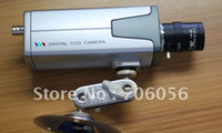 Wholesale 3 mm Sharp CCD Color FREE Lens BOX CCTV Security Video Camera E27 mm