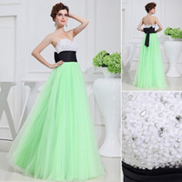 Multi Color Sweetheart Neckline Tulle Prom Dresses Mint Gree...
