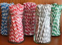 Wholesale 1000pcs amp color amp Packing mixed Striped and Polka Dot Drinking Paper Straws striped paper party