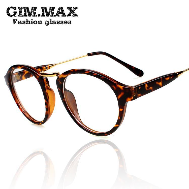 Glasses Frame Personality Quiz : Gimmax Circle Vintage Glasses Personality Non Mainstream ...
