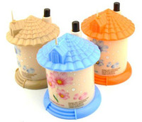 bamboo house designs - pocket Plastic Castle Little House Design Automatic Toothpick Holder dispens