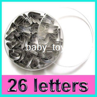 Wholesale A Z Letters Shape Biscuit Mould Fondant Cookie Cake Mold Cutter New Box