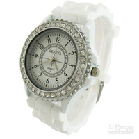 Wholesale MHJA342 Classic Gel Silicone Crystal Men Lady Jelly Watch Gifts Stylish