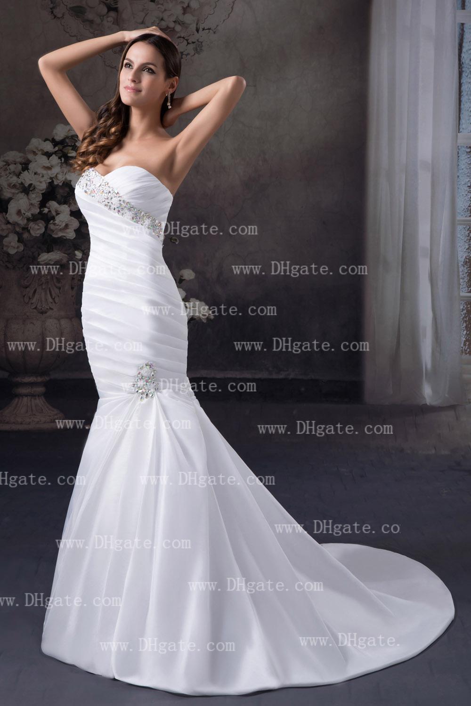New mermaid wedding dress sweetheart swarovski crystals for Bracelet for wedding dress