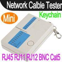 Wholesale Mini RJ45 RJ11 RJ12 BNC Cat5 Network LAN Cable Tester Keychain Multifunctional