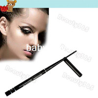 Waterproof Pencil Black 5pcs Lot New Rotary Waterproof Liquid Eyeliner Pencil Eye Liner Pen Black Makeup Wholesale Free Ship