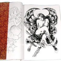 Cheap New Tattoo Flash Design book Popular tattoo Reference book A3 Size WS-D050 free shipping