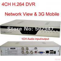 Wholesale 4 CH Security G Mobile H DVR System Network FREESHIPPING CCTV COLOR