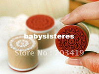 stamps - retail Wooden vintage Antique round lace Stamps seal DIY diary carved gift decor craft scr