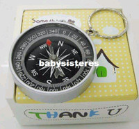 Wholesale mini compass pocket High accuracy and stability American keychain