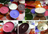 Wholesale Candles Tea light home decoration aluminium cup wax smokeless wedding