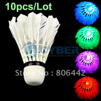 Wholesale New Dark Night LED Badminton Shuttlecock Birdies Lighting