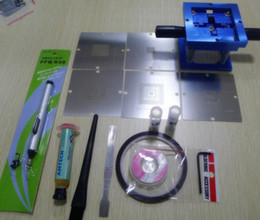 BGA Reballing Stencil Station + 5 XBOX 90mm Stencils+ Paste + 6 pcs AS + 2 BALLS