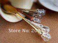 al por mayor cucharas de medir la vendimia-el envío libre de camello creativa de diseño de época de cristal tallado té café helado cuchara medidora meta