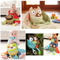 Wholesale 4 Design Featured Hug amp Hide Baby Activity Toys baby Stroller Toys Infant baby pram toy
