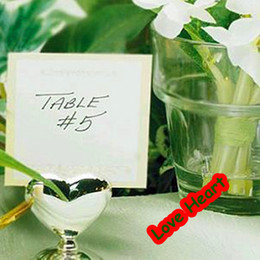 Wholesale Hot sale Heart Shape Place Card Holder Seats Card Wedding Cardholder Wedding Favors Gifts