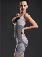 One Size   One-piece Fashion Natural Bamboo Charcoal Body Shaper Underwear Slimming Suit bodysuits