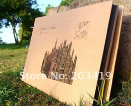 Wholesale castle vintage Antique DIY PHOTO ALBUM Scrapbook Paper Crafts for baby wedding picture