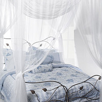Wholesale White Large Bed Canopy Post Bed Mosquito Net fit full and king bed size cm Wx cm Lx cmH