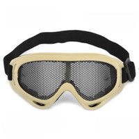 Wholesale Outdoor Safety Eye Protection Metal Mesh Shield Goggle Black Yellow