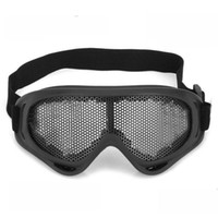 Wholesale vOutdoor Safety Eye Protection Metal Mesh Shield Goggle Black
