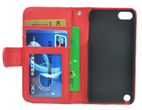 Wholesale 30pcs New Wallet Photo Frame With Credit Card Slots PU Leather Case Cover Stand For Ipod Touch th