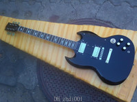 Wholesale NEW Angus Young SG High Gloss Ebony Black Electric Guitar N3