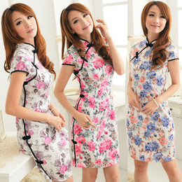 Wholesale Traditional Chinese ethnic dress silk cheongsam evening dress sexy cheong sam sexy cheongsam dress