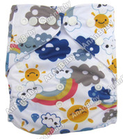 Wholesale Prefold Cloth Nappies Without Insert Diapers Baby Brand AnAnBaby New Born Cartoon Diapers