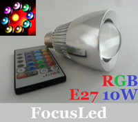 Wholesale 2013 Newest E27 W RGB Led Spot Bulb Lights V Magic Colors Changing Led Lamps Controller