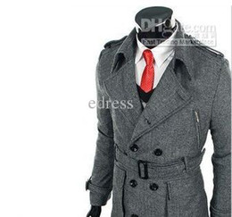 Wholesale Men s coat Wool high grade coat man s clothing Fashion coat overcoat dust coat No Color sil