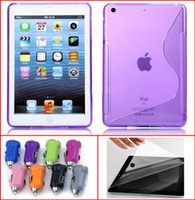 S Shape TPU Soft Case+ Crystal LCD Screen Protector Film for ...